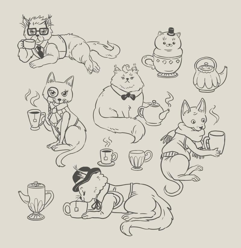 cats-tea_lines