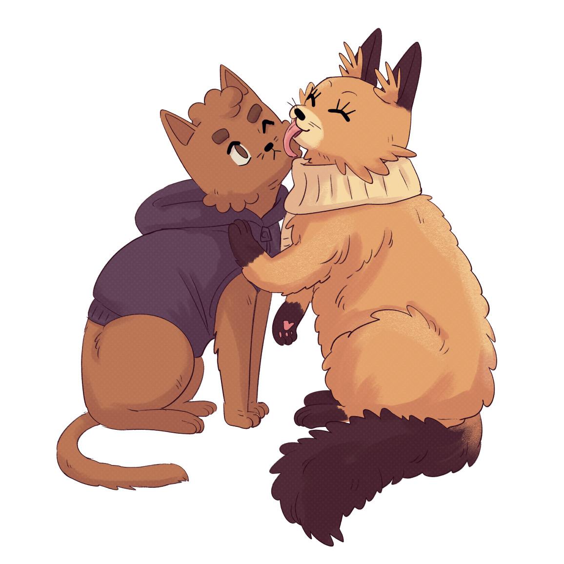 Sunny and Rainy as cats